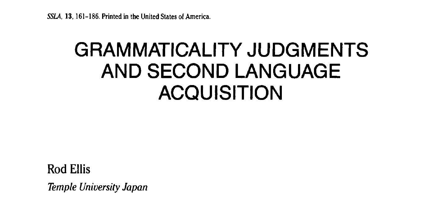*Grammatically judgements
