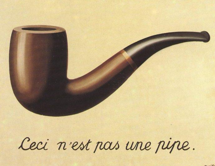 La trahison des images (Magritte 1928-1929)