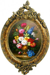 You wouldn't be able to tell this is a painting if it weren't for the frame. Right? Right?